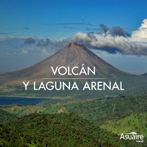 Volcán y laguna Arenal