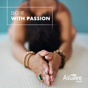 Passion for yoga, namaste!