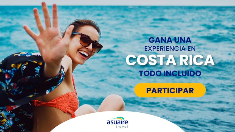Gana un viaje todo incluido a Costa Rica