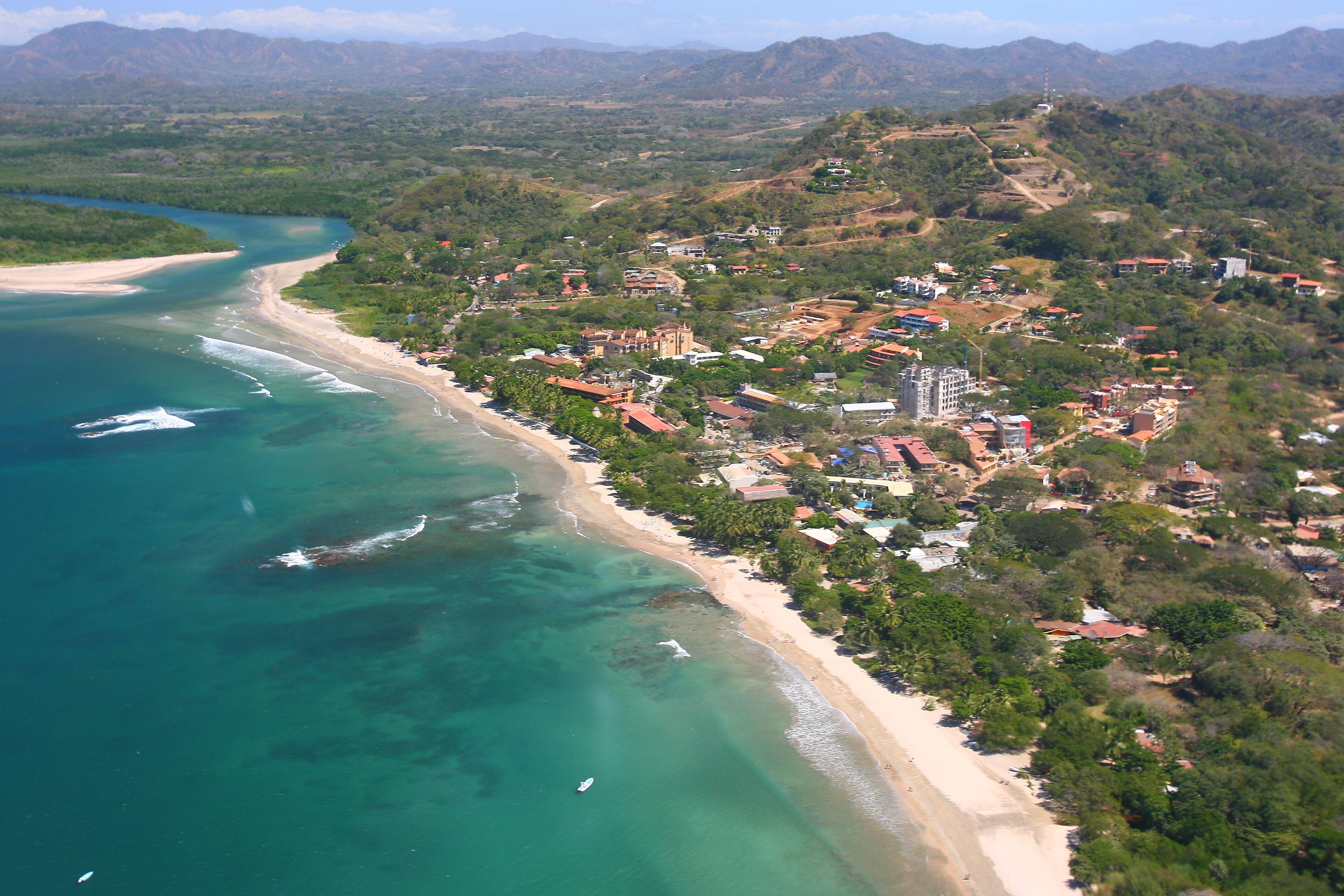 Costa Rica Playa Tamarindo and Rivermouth 2007 Aerial Photograph Tamarindowiki 01